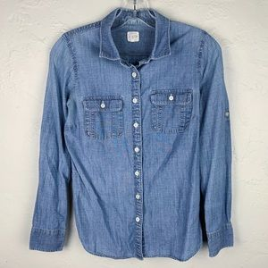 2 FOR $10! J. Crew Chambray Perfect Button Shirt